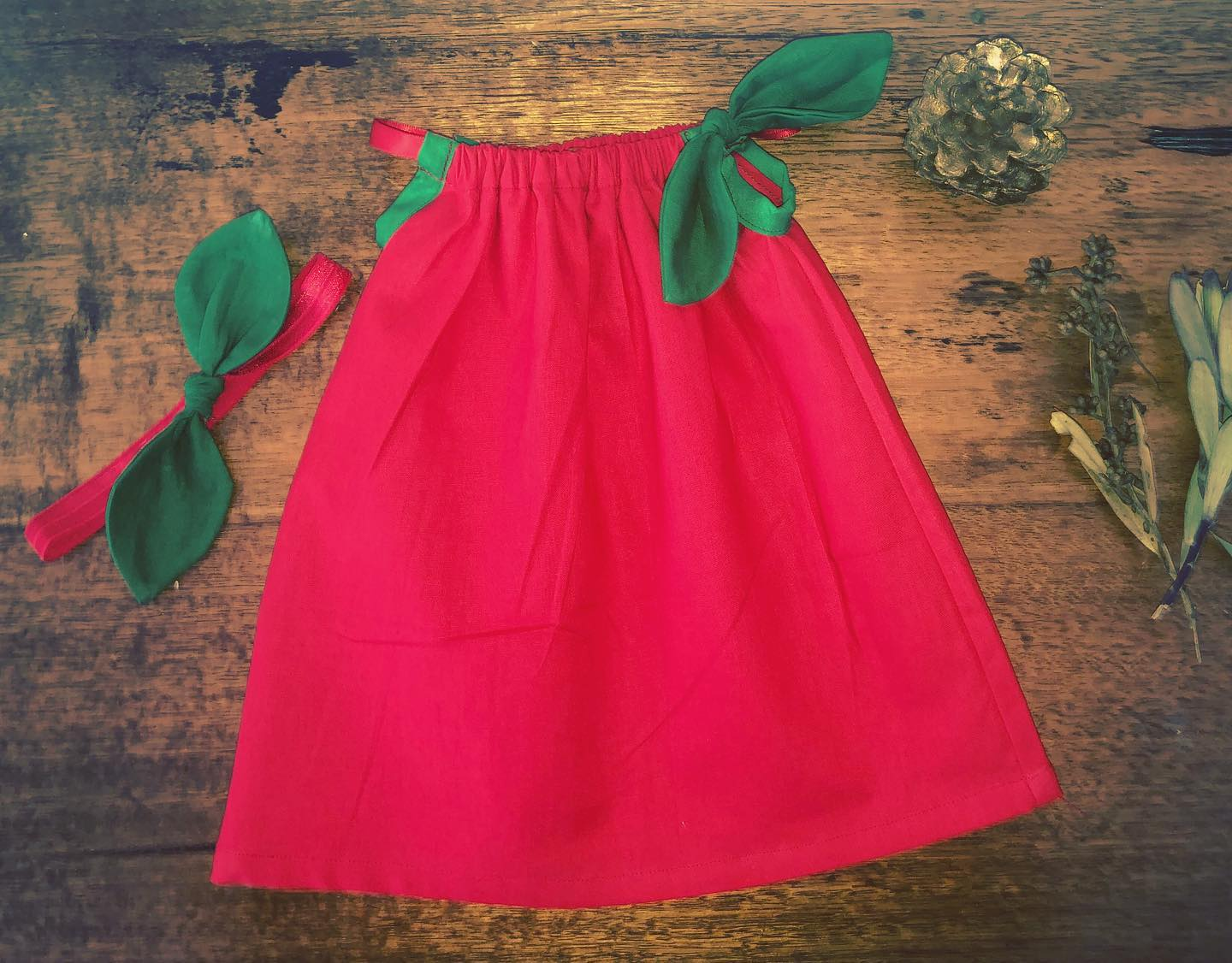 Summer Dress - Red and Green