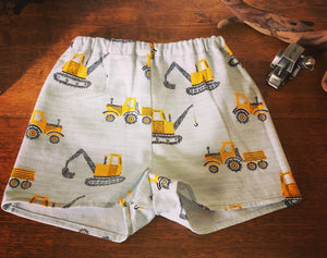 Tractor Dozer Summer Shorts