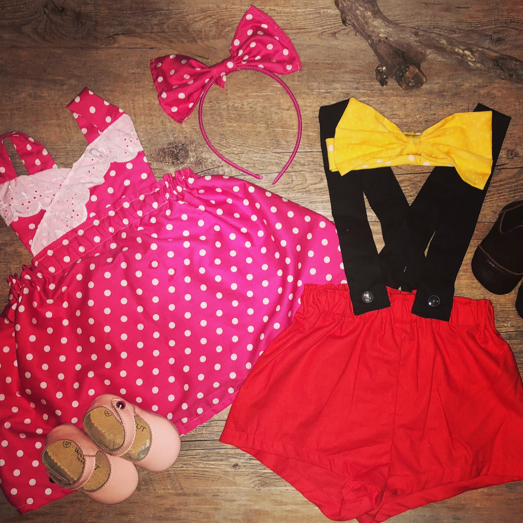 Minnie and Mickey Mouse Outfit