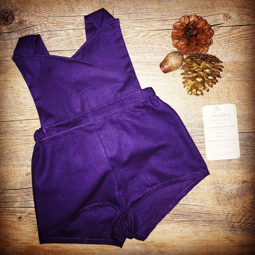 Seasonal Romper - Deep Purple Romper