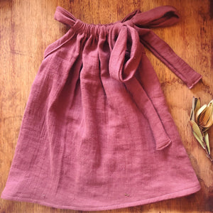 Handmade Double Crinkle Plum Tie Dress