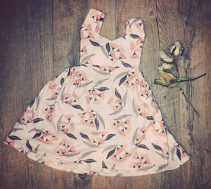 Seasonal Pinafore - Gumtree Pink