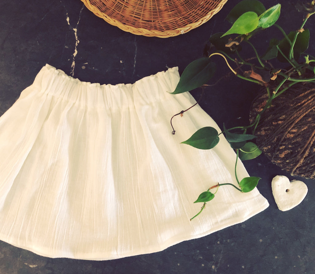 Seasonal Skirt - White Cheese Cloth