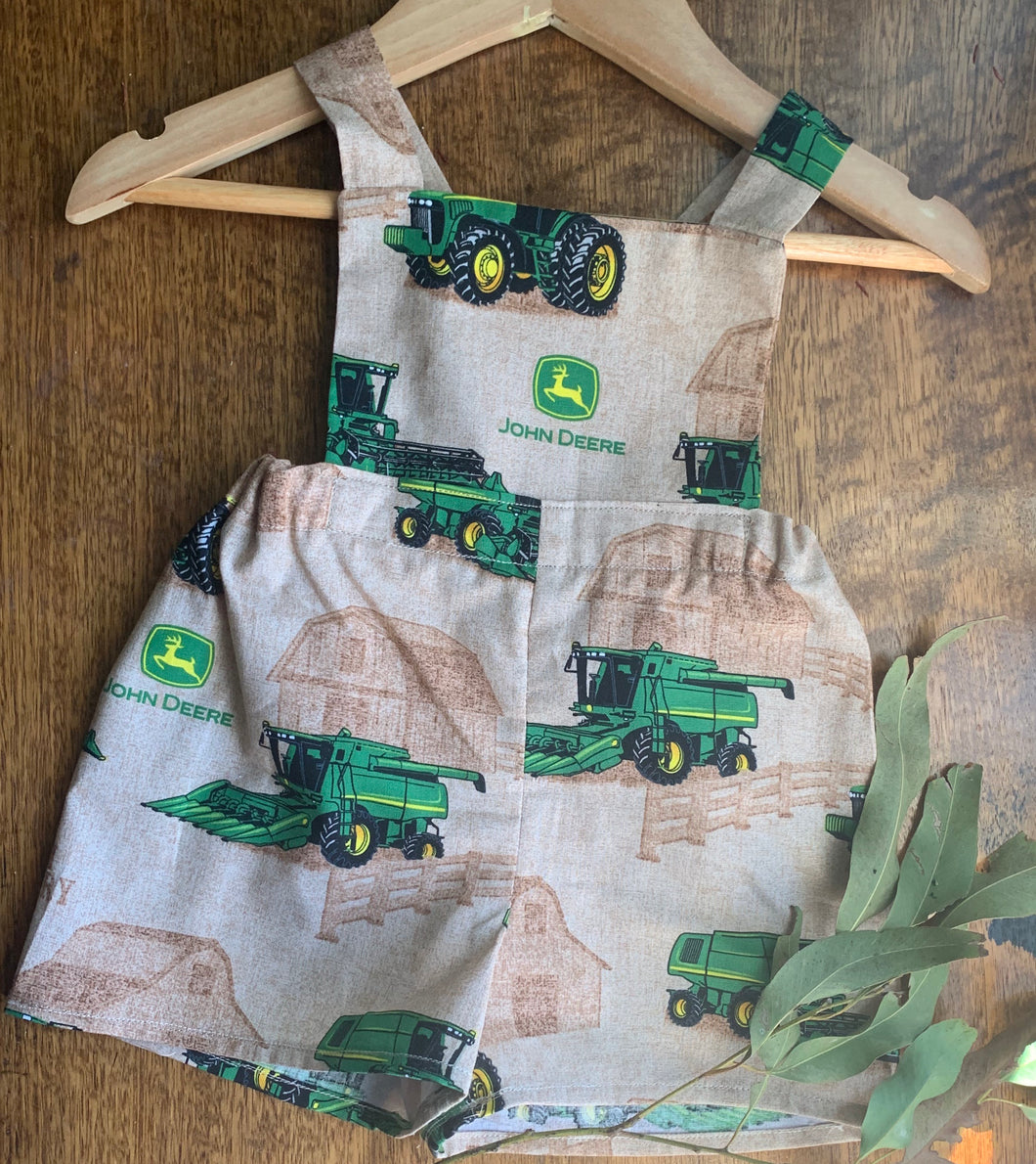 John Deere Clothing Kids Rompers Handmade in Australia