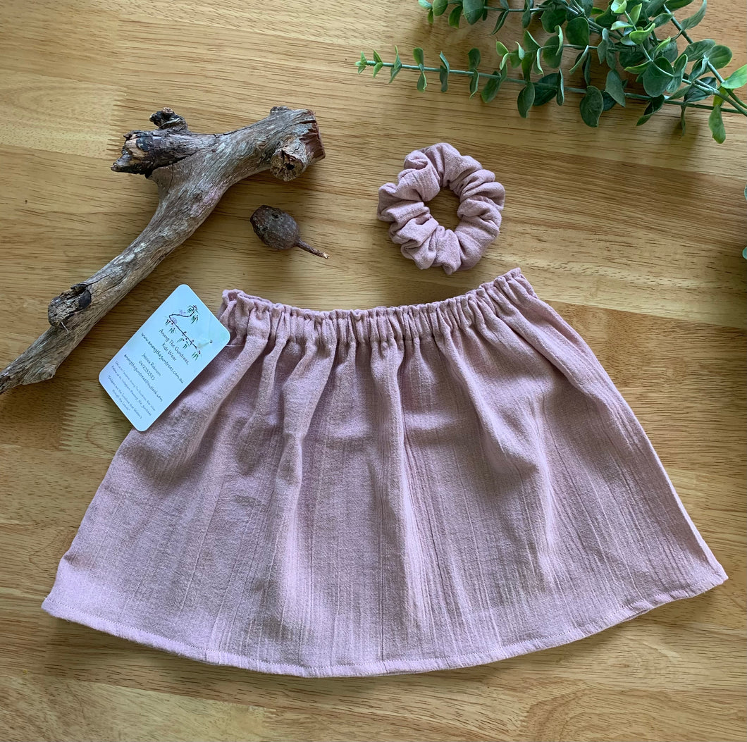 Handmade Cheesecloth Skirts ~ Dusty Pink