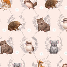 Load image into Gallery viewer, Fitted Cotton Cot Sheet - Little Aussie Animals - Elise Martinson