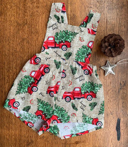 Seasonal Romper - Christmas Truck