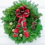 Plaid Bow Wreath