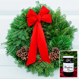 Christmas Wreath with Blueberry Jam