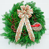 Red Cardinal Wreath