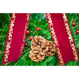 Burgundy & Gold Wreath