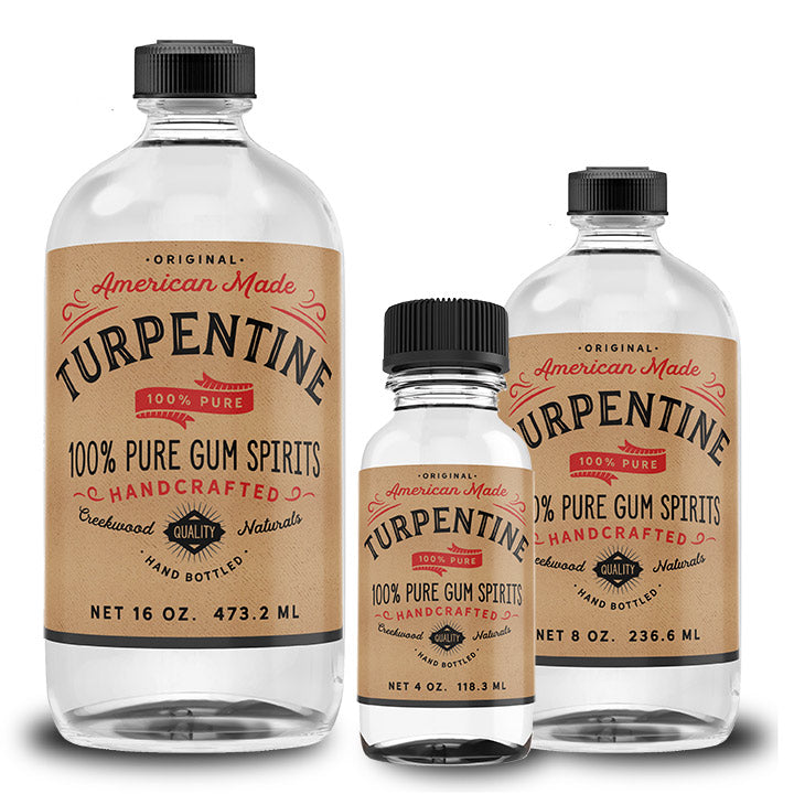 100% Pure Gum Spirits of Turpentine - Creekwood Naturals