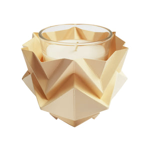 Bougeoirs Origami en Papier - Lot de 3
