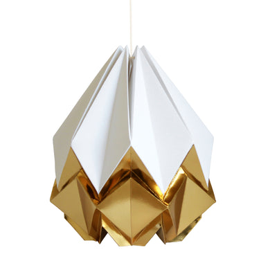 White and Gold Pendant Light - size M