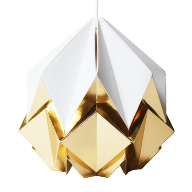 White and Gold Pendant Light - size S