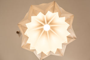 Suspension Origami Couleur Uni en Papier - Taille XL
