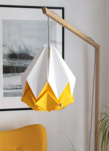 Suspension Origami Bicolore en Papier - Taille L