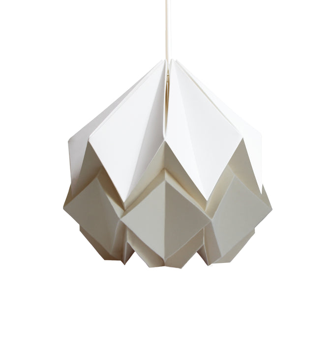 Suspension Origami Bicolore en Papier - Taille S