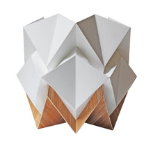 Load image into Gallery viewer, Lampe de Table Origami en EcoWood et Papier