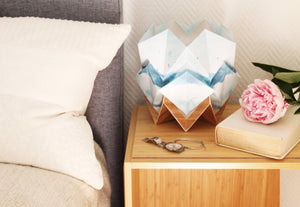 Summer pattern and EcoWood Table Lamp