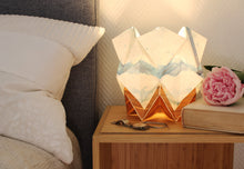 Load image into Gallery viewer, Summer pattern and EcoWood Table Lamp
