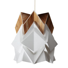 Load image into Gallery viewer, Petite suspension Origami Design en Papier et Ecowood