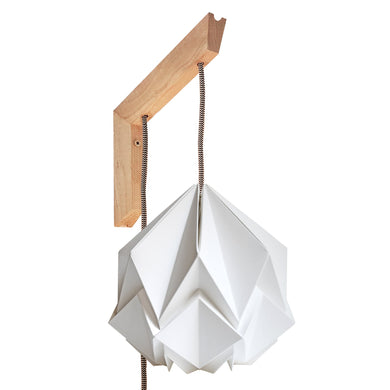 Applique murale en bois et suspension Origami Design en Papier