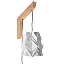 Load image into Gallery viewer, Applique murale en bois et petite suspension Origami Design en Papier