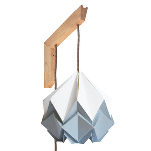 Applique murale en bois et suspension Origami Bicolore Design en Papier