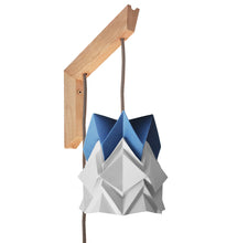Load image into Gallery viewer, Applique murale en bois et petite suspension Origami Bicolore en Papier