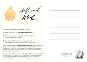 Virtual Gift card - different choices available