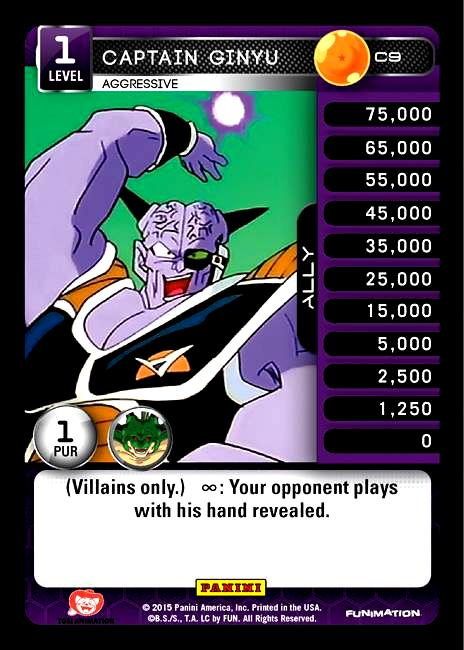 C9 Captain Ginyu, Aggressive