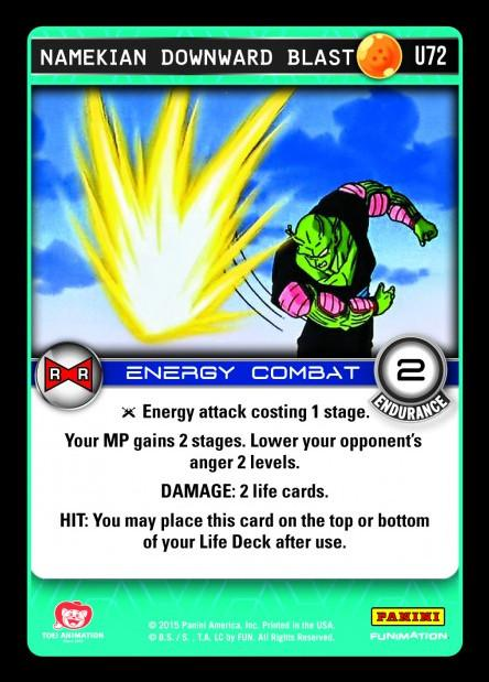 U72 Namekian Downward Blast