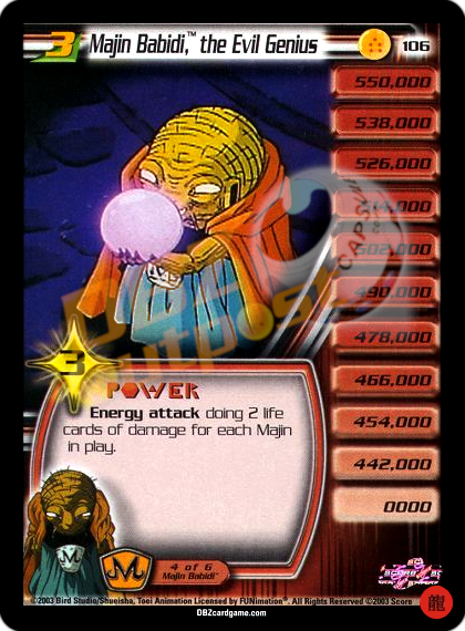 106 - Majin Babidi™, the Evil Genius LV3 Limited
