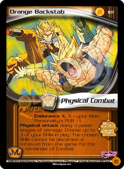 107 - Orange Backstab Limited