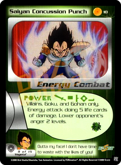 10 - Saiyan Concussion Punch Limited