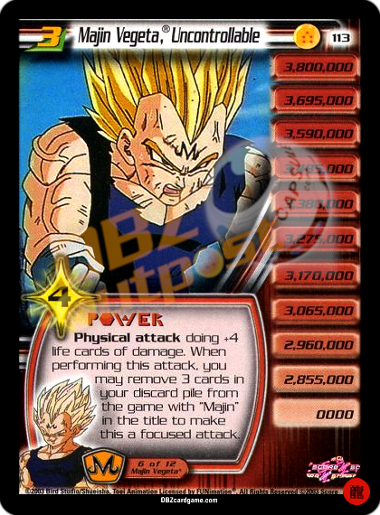 113 - Majin Vegeta®, Uncontrollable LV3 Limited