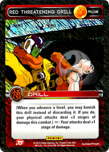 R119 Red Threatening Drill Foil