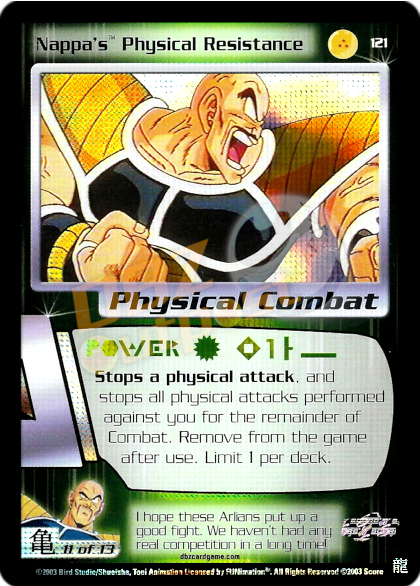 121 - Nappa's Physical Resistance