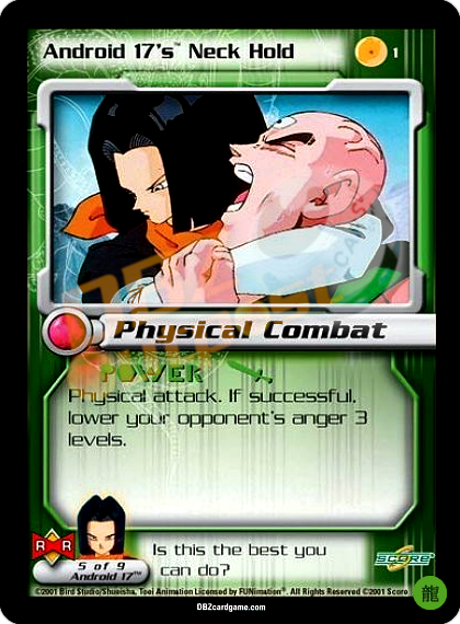 1 - Android 17's Neck Hold Limited Foil