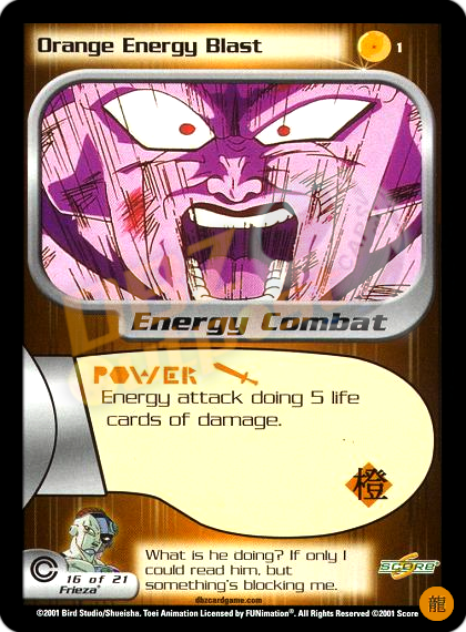 1 - Orange Energy Blast Limited Foil