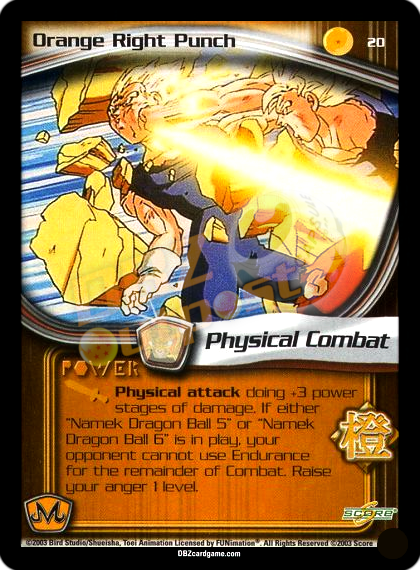 20 - Orange Right Punch Unlimited Foil