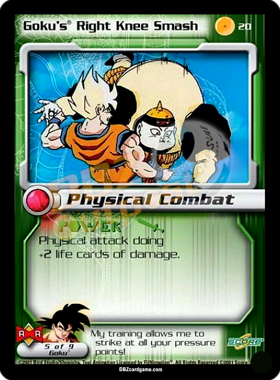20 - Goku's Right Knee Smash Unlimited Foil