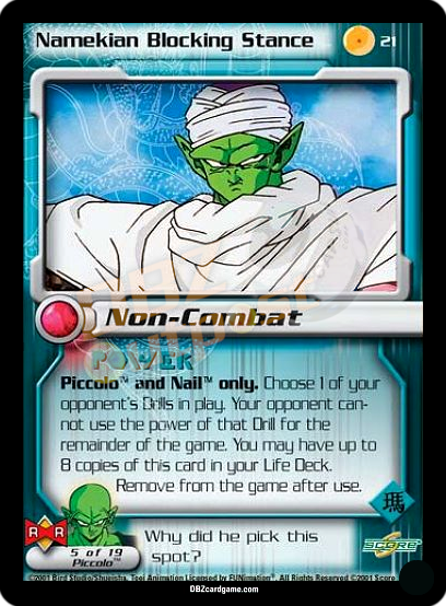 21 - Namekian Blocking Stance Unlimited Foil