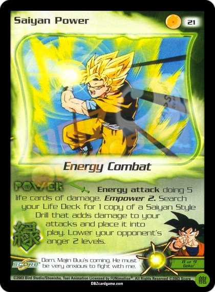 21 - Saiyan Power Limited Foil