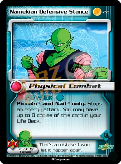 22 - Namekian Defensive Stance Unlimited Foil