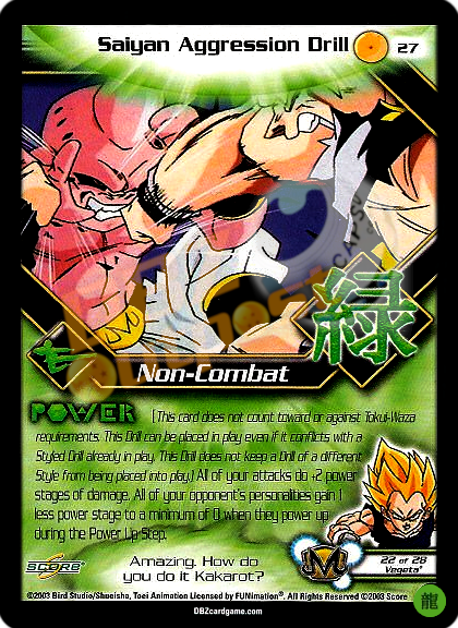 27 - Saiyan Aggression Drill Limited Foil