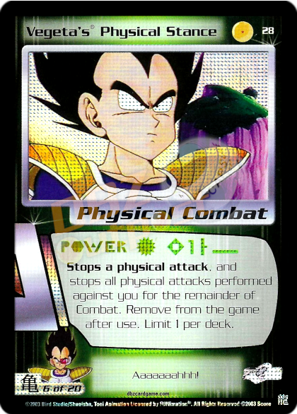28 - Vegeta's Physical Stance