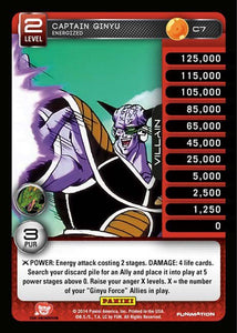C7 Captain Ginyu, Energized