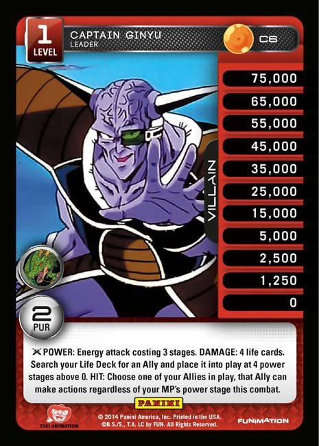 C6 Captain Ginyu, Leader